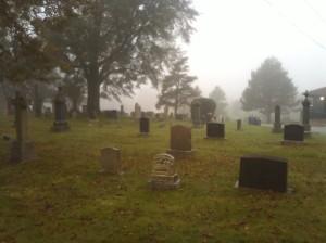 Spooky Cemetary Scene